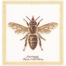Набор для вышивания Медоносная пчела, канва лён 32 ct