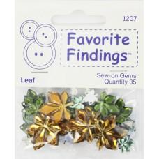 Набор декоративных элементов Favorite Findings Прозрачные листочки