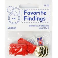 Набор декоративных элементов Favorite Findings Лондон