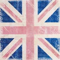 Бумага для скрапбукинга Винтажный флаг Portobello Road