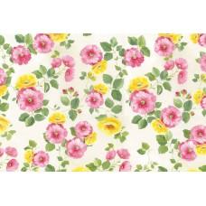 Бумага рисовая Розовые и желтые цветы