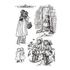Набор переводных изображений (Transfer) Дети