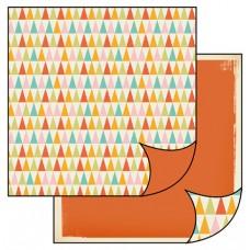 Бумага двухсторонняя для скрапбукинга Треугольники в стиле ретро