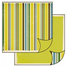 Бумага двухсторонняя для скрапбукинга Полосы в стиле ретро