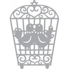 Трафарет-маска Влюблённые птички