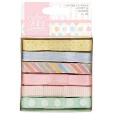 Набор лент Spots & Stripes Pastels