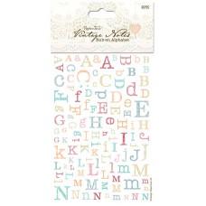 Переводные картинки (натирки) Алфавит Vintage Notes