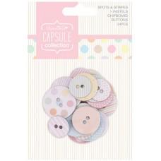 Набор пуговиц картонных Spots & Stripes Pastels