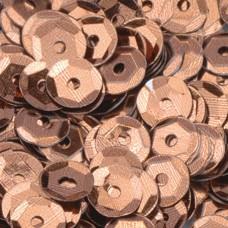 Пайетки круглые Чашечки, 4000 шт, 40 г