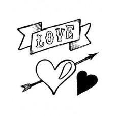 Штапм силиконовый Любовь