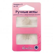 Иглы ручные с закругленным острием для трикотажа №5-10, 10 шт