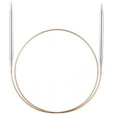 Спицы, круговые, супергладкие, экстрадлинные из никелированной латуни, №3, 250 см