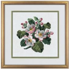 Набор для вышивания Цветы яблони, лён 26 ct