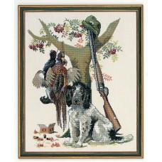 Набор для вышивания Охотничьи трофеи, лён 26 ct