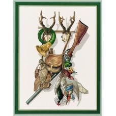 Набор для вышивания Гордость охотника, лён 26 ct