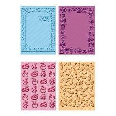 Папка для эмбоссинга, 4 дизайна в комплекте