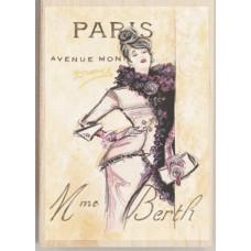 Штамп Парижская модница