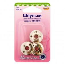Шпульки  для швейных машин металлические марки SINGER, класс 66К