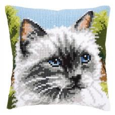 Подушка Сиамская кошка набор для вышивания