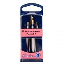 Иглы для штопки в пластиковом контейнере №3-9, 10 шт.