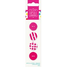 Набор пуговиц Spots & Stripes Brights - Pink