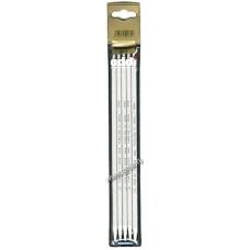 Спицы, чулочные, алюминий, №6, 23 см. 5 шт в блистере