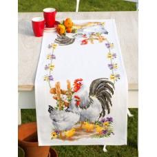 Дорожка Семейство кур набор для вышивания