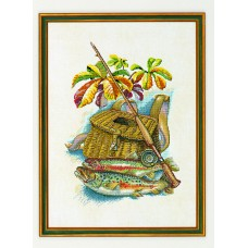 Набор для вышивания Рыбалка, лён 26 ct