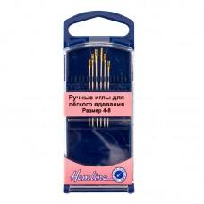 Иглы ручные для лёгкого вдевания в пластиковом контейнере № 4-8, 6 шт