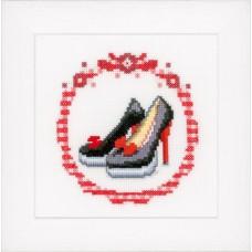 Набор для вышивания Черные туфли-лодочки