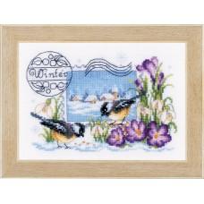 Набор для вышивания Зимняя почтовая марка