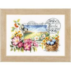 Набор для вышивания Весенняя почтовая марка