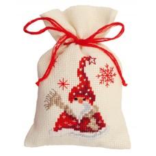 Мешочек набор для вышивания Санта с шарфом