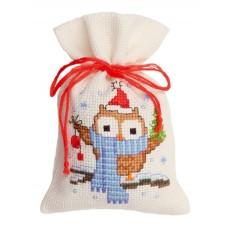 Мешочек набор для вышивания Совёнок с шарфом