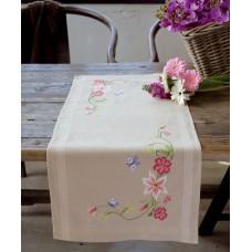 Дорожка Розовые цветы и бабочки набор для вышивания
