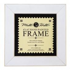 Рамка деревянная цвет белый античный