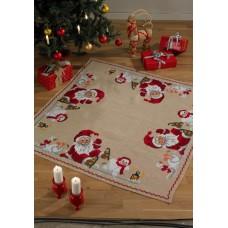 Коврик под ёлку Санта на коньках, набор для вышивания