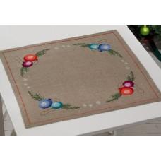 Скатерть Рождественские шары, набор для вышивания