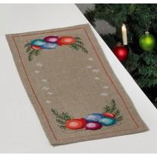 Салфетка Рождественские шары, набор для вышивания