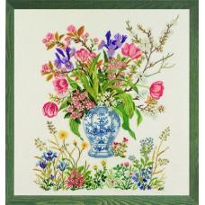 Набор для вышивания Тюльпаны, лён 26 ct