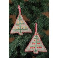 Набор для вышивания Рождество (ёлочные украшения 2 шт.)