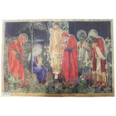 Бумага рисовая с контурным золочением Дева Мария с младенцем