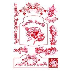 Набор переводных изображений (Transfer) Розы