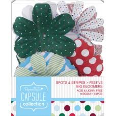 Декоративные элементы Крупные цветы Spots & Stripes Festive