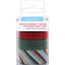 Лента клейкая декоративная Spots & Stripes Festive