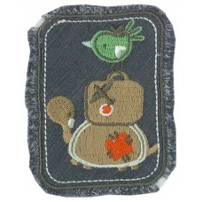 Термоаппликация HKM Птичка, чемодан, черепаха, 1 шт