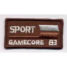 Термоаппликация Спорт, цвет коричневый