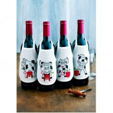 Фартучки на бутылки Коровы, набор для вышивания