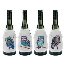 Фартучки на бутылки Совы, набор для вышивания