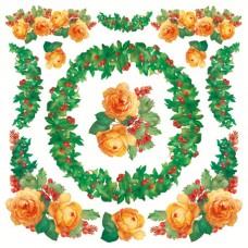 Салфетка рисовая Розы
